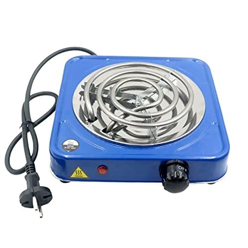 Hornillo para Cachimba Shisha portátil, para Acampada, Encender Carbones de Barbacoa o como Hornillo portátil. 1000w de Potencia. Color Azul
