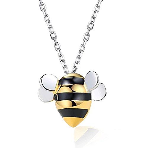 Helen de Lete Kleine Biene 925 Sterling-Silber Schmuck Set (Halskette)
