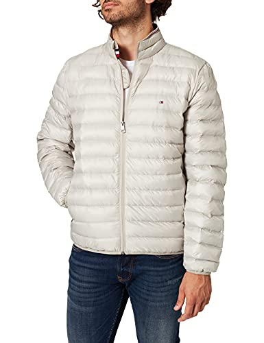 Tommy Hilfiger Packable Circular Jacket Chaqueta, Trampa de Arena, S para Hombre