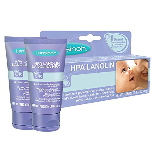 Lansinoh HPA Lanolin for Breastfeeding Mothers, 1.41 Ounce, Pack of 2