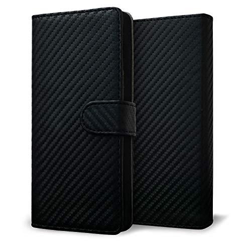 改良進化版 プルームテック プラス ケース Ploom TECH + 賢者の箱+ まとめて収納 コンパクト手帳型 カーボン柄 新型 ブラック