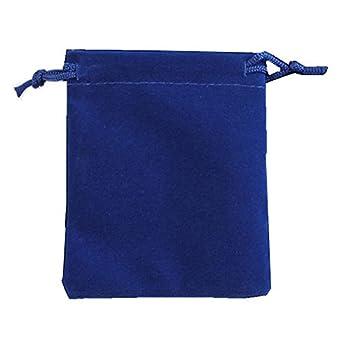 Ximkee 50 Pieces Wholesale Lot - Black Velvet Cloth Jewelry Pouches/Drawstring Bags 3  X 4   50 Blue