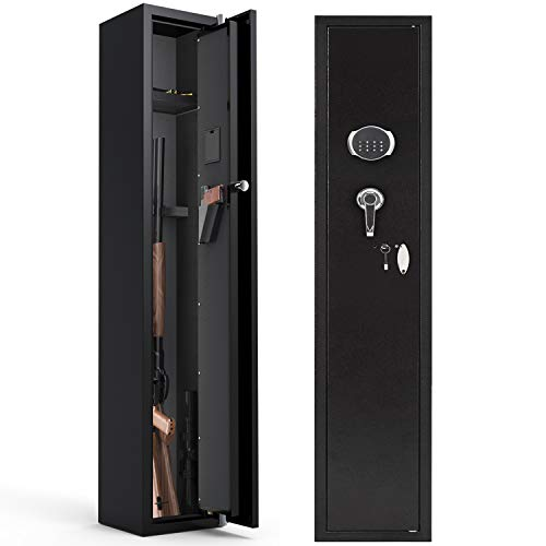 CISNO Gun Safes for Rifles and Shotguns, Digital Keypad Rifle Gun Safe, Quick Access Gun Storage Cabinet (Digital Keypad 4 Rifles)