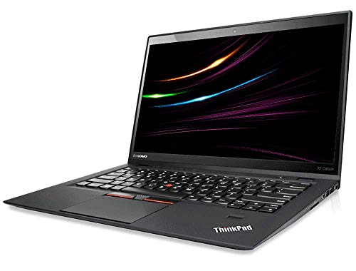 Lenovo ThinkPad X1 Carbon Mobiles Notebook Intel i7 2.0 GHz Prozessor 8 GB Arbetsspeicher 512 GB SSD 14.1 Zoll Display, HD, 1600x900, Cam Windows 10 Pro 1F4 (Generaluberholt)
