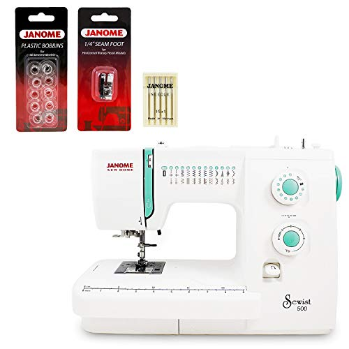 Janome Sewist 500 Sewing Machine w/3- Piece Bonus Kit