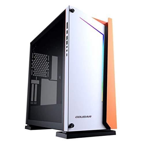Caso de los juegos de PC ordenador para PC de escr Chasis de juego de aleación de aluminio - Tower PC juego Chasis - Torre de cristal templado ATX juego Chasis -RGB PC juego Chasis - Opciones de disip