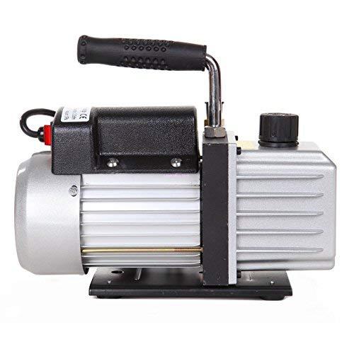 Ridgeyard Pompa a Vuoto 180W 5Pa 1/4HP 220V 50Hz 2,5 CFM Pompa per il vuoto refrigerazione rotativi monostadio pulsometro DE