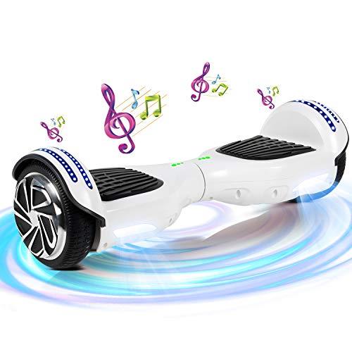 SISGAD - Hoverboard elettrico con ruote da 6,5', bilanciamento automatico, ideale come regalo per bambini, Bambino, HY-01A