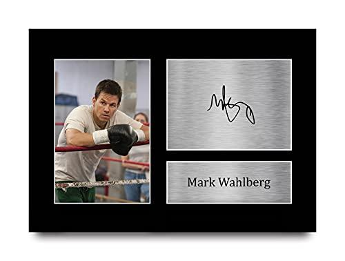 HWC Trading Mark Wahlberg A4 Ungerahmt Signiert Gedruckt Autogramme Bild Druck-Fotoanzeige Geschenk Für The Fighter Filmfans