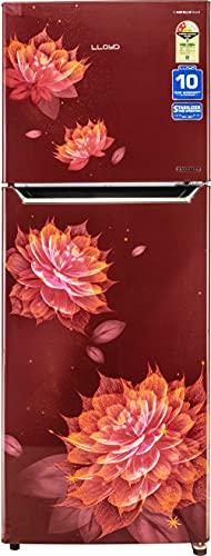 Lloyd 310 L 2 Star Inverter Frost Free Double Door Refrigerator (GLFF312ASRT1PB, Sakura Red)