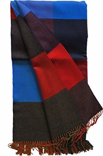 Rotfuchs Couverture Laine Couverture Couverture Plaid Couverture Plaid rouge bleu 100% laine (Mérinos)