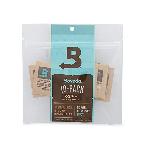 Boveda - Bolsitas para almacenar remedios naturales | Control doble de la humedad - 62% HR | Tamaño 4 para un máximo de 15g | Previene la pérdida de terpenos | Pack de 10