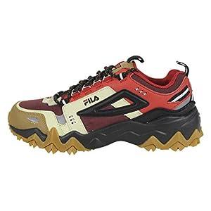 Fila Men's Oakmont TR Trail Sneaker (13, Tan/Red/Black)