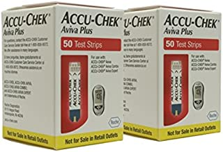 ACCU-CHEK Aviva Plus Test Strips, 2x50 Ct Boxes