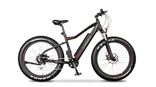 Argento Bicicletta elettrica Elephant Ruote Fat, Unisex Adulto, Nero e Rosso, taglia unica