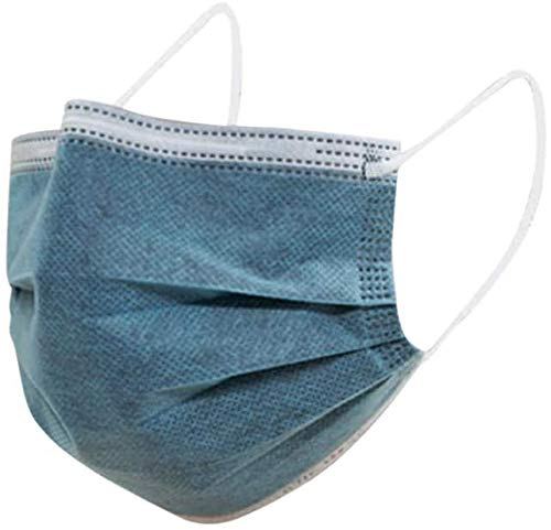 VESNAHOME 50 Stück, Neutral, Wolle, Leicht zu Atmen, Mehrschichtig, Zuverlässige Abdeckung, grau Blau