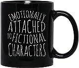 DKISEE Emocionalmente adjunto a personajes ficticios cartel divertido lindo meme traje hombres mujeres taza de café regalo para mujeres y hombres tazas de té 11 oz