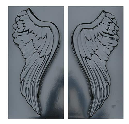 Concrete Mold Angel Wings 3D Statue Decor Wall Wings Set 2pcs Plastic Mold D51
