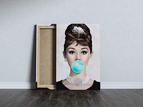 Quadro Audrey Bonequinha De Luxo Tecido Canvas Tela 40x60