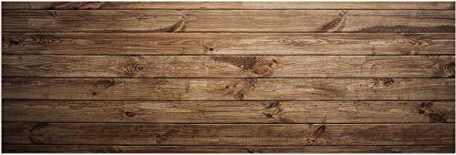 matches21 Teppichläufer Küchenläufer Teppich Läufer Dunkles Holz Holzoptik Bretter Velours & Latex waschbar 60x180 cm