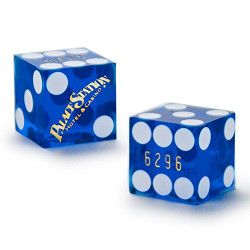 Pair (2) of Official 19mm Casino Dice Used at the Palace Station Casino by Brybelly