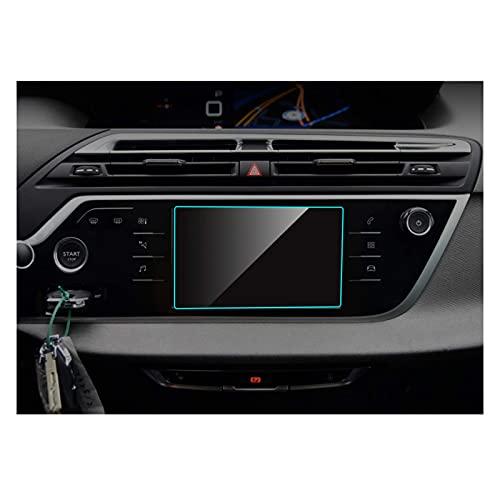 WYYUE Protector Pantalla Navegación para C4 Picasso, GPS Radio Cristal Templado Coche Interior Accesorios