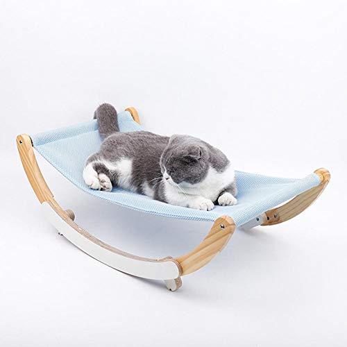 Althuria Katze Hängematte Haustier Schaukel Hängematte Holzrahmen Kätzchen Bett Schaukel, Für Hauskatzen Oder Andere Kleine Haustiere (23,31 X 14,56 X 7,87 Zoll)
