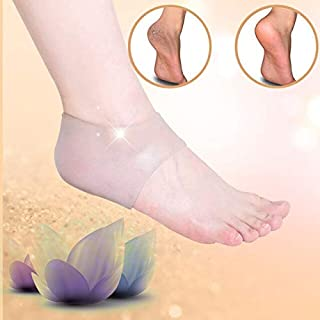 HealthyNeeds MUMIAN 1 Pair Silicone Gel Cushion Pad transparent Heel Support Sleeve Foot