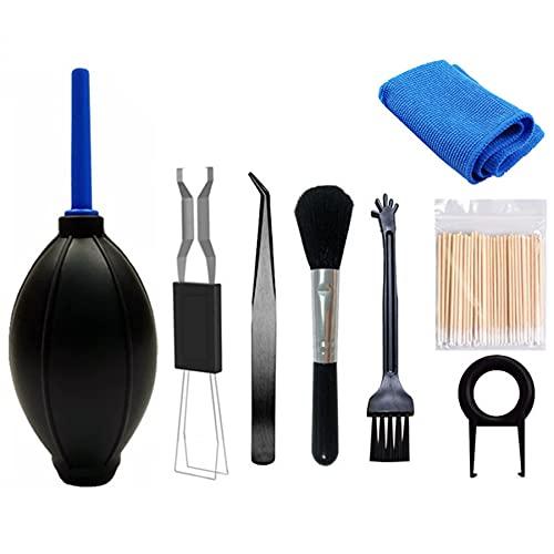 CeruleTree Kit de limpieza de teclado (juego de 8), kit de limpieza de teclado duradero, extractor de teclado, cepillo de limpieza pequeño y kit de limpieza