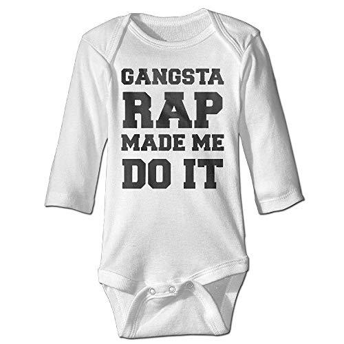 Gangsta Rap ließ Mich es tun Instagram Mode Baby Langarm Bodysuit 18M