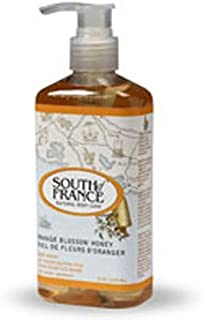 Hand Wash Liquid, Orange Blossom Honey 8 Oz by South Of France Soaps (Pack of 3)