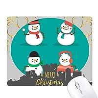 メリー・クリスマス雪だるま祭りパターン クリスマスイブのゴムマウスパッド