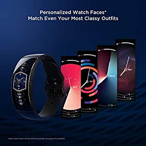 Amazfit X Smart Watch, Fitness Tracker with Blood Oxygen Monitor, Heart Rate and Sleep Monitoring, Water-Resistant Pedometer Step Bracelet with HD AMOLED Screen for Men Women, 7-Day Battery Life