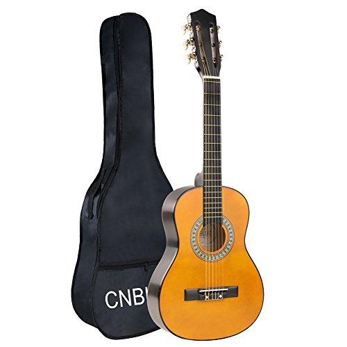 Kid Beginner Guitar Classical Guitar Acoustic Guitar 1/2 Half Size 30 inch Nylon Strings … (30 inch, yellow)