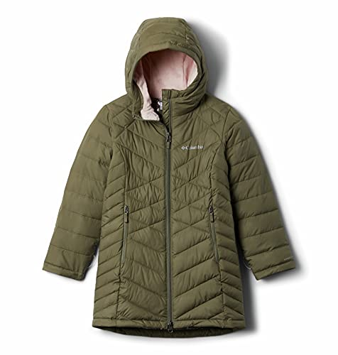 Columbia Youth Girls Heavenly Long Jacket, Stone Green, Large