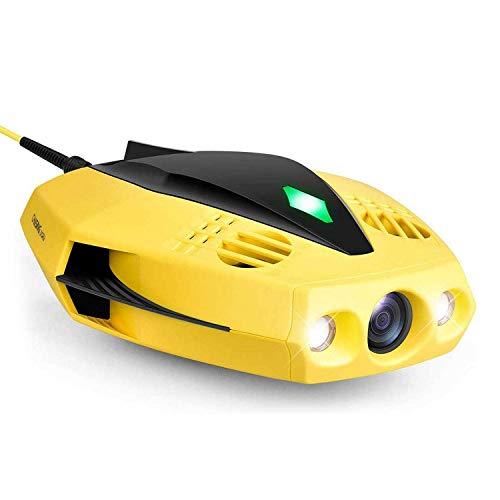 XIAOKEKE Fotocamera Subacquea per Drone, Drone Subacqueo Full HD 1080P con Telecamera per La Visualizzazione in Tempo Reale, Telecomando App, Dimensione del Palmo E Custodia da Trasporto Portatile