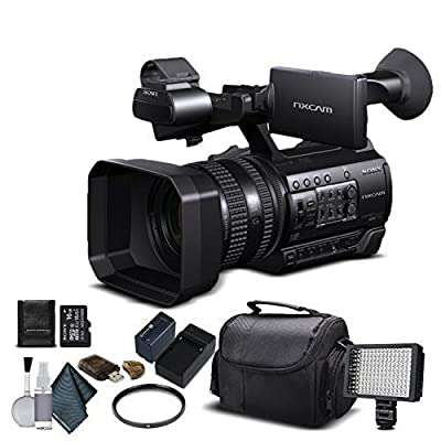 Sony HXR-NX100 Full HD NXCAM Camcorder (HXR-NX100) with 16GB Memory Card, Extra Battery and Charger, UV Filter, LED Light, Case and More. - Starter Bundle from Mad Cameras