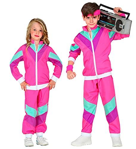 BeBuy24 Disfraz infantil de hippie de los años 80, para fiestas temáticas, talla 158, 11-13 años, color azul