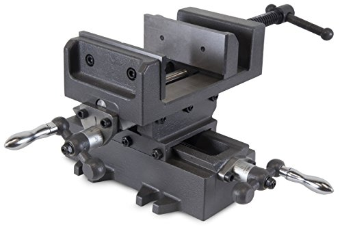 "WEN 414CV 4.25"" Compound Cross Slide Industrial Strength Benchtop & Drill Press Vise"