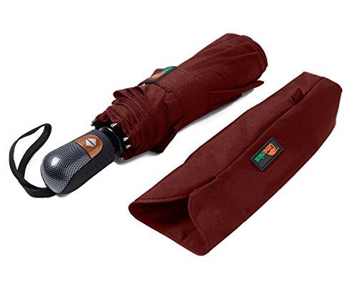Umenice Ombrello 9-rib, antivento, con 210T tessuto Teflon, rosso (Rosso) - UUT-21A01R