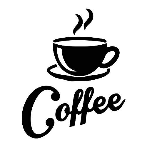 Pegatinas de pared para café, taza de té, libro de pared, decoración de murales para decoración de hogar y cocina (taza)