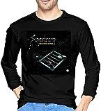 Thimd Supertramp Camiseta de Exterior de Manga Larga Suave para Hombre, 100% algodón, Camisetas con Estampado, Camiseta Negra