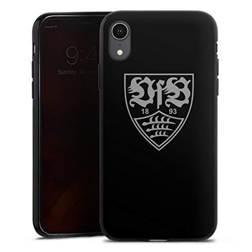 DeinDesign Silikon Hülle kompatibel mit Apple iPhone Xr Case schwarz Handyhülle Offizielles Lizenzprodukt VfB Stuttgart Bundesliga