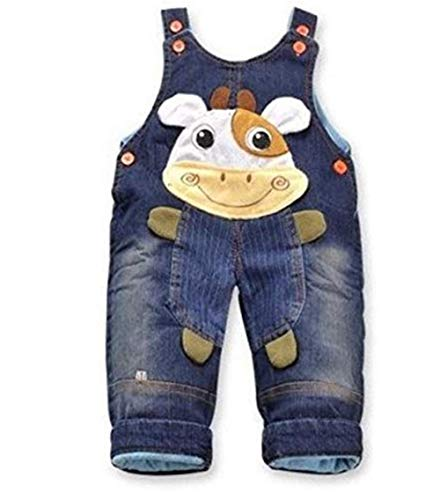 Jeans Latzhose 'Kuh'  Baby Hose, Größe:9-12 Monate