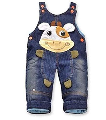 Jeans Latzhose 'Kuh'  Baby Hose, Größe:18-24 Monate