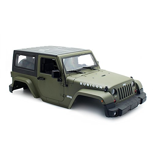 INJORA RC Carrocería Kit 270mm Distancia Entre Ejes Corpo Cuerpo Jeep Wrangler Rubicon Car Shell para 1/10 RC Crawler Axial SCX10 Tamiya CC01 D90