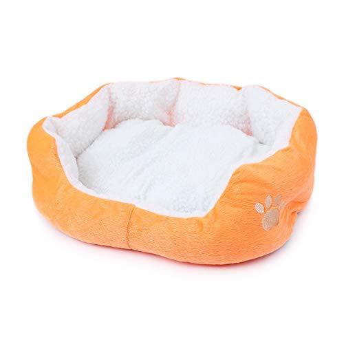 jaosn Cama redonda para mascotas, sofá para perros, cojín para perros, cama para gatos, forma de donut, 60 cm