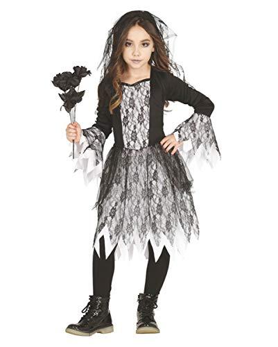 Horror-Shop Trendiges Gothic Ghost Mädchen Kostüm für Halloween und Motto Parties L