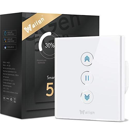 [Función de porcentaje] Interruptor de persiana Wifi de cuarta generación, LED controlable, temporizador, dispositivo de seguridad para niños. Alexa y Google y Siri 80x80mm