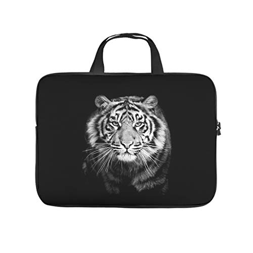 tiger animal Laptop bag Design Laptop Case Bag Colorful Shockproof Computer Protective Bag with Portable Handle for Women Men white 12 zoll